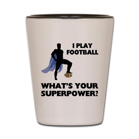 Football Superhero Shot Glass