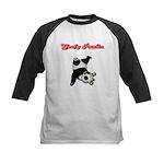 Goofy Panda Kids Baseball Jersey
