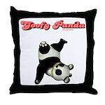 Goofy Panda Throw Pillow