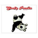 Goofy Panda Small Poster