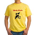 Goofy Panda Yellow T-Shirt