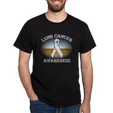 Lung Cancer Black T-Shirt