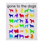 gone to the dogs rainbow Throw Blanket