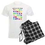 gone to the dogs rainbow Men's Light Pajamas