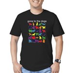 gone to the dogs rainbow Men's Fitted T-Shirt (dar