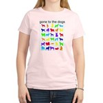 gone to the dogs rainbow Women's Light T-Shirt