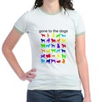 gone to the dogs rainbow Jr. Ringer T-Shirt