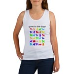gone to the dogs rainbow Women's Tank Top