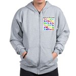 gone to the dogs rainbow Zip Hoodie