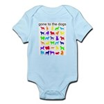 gone to the dogs rainbow Infant Bodysuit