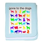 gone to the dogs rainbow baby blanket