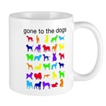 gone to the dogs rainbow Mug