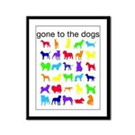 gone to the dogs rainbow Framed Panel Print