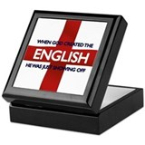England Flag St George's Day Keepsake Box