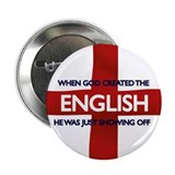 "England flag St Georges Day 2.25"" Button (10 pack)"