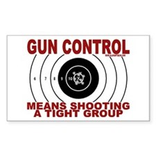 Gun Control Rectangle Decal