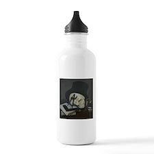 Masonic Skull Wearing Tile Water Bottle