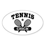 Tennis Chick Decal