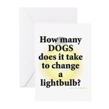 Dogs Change Lightbulb Greeting Cards (Pk of 10)