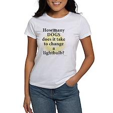 Dogs Change Lightbulb Tee