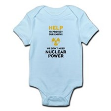HELP to protect - black Infant Bodysuit