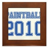 """Paintball 2010"" Framed Tile"
