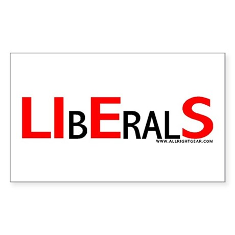 LIbEralS Rectangle Sticker
