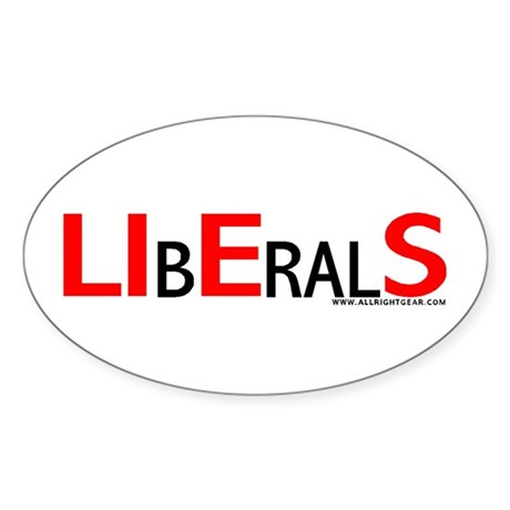 LIbEralS Oval Sticker