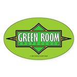 Green Room Oval Sticker