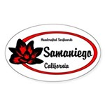 Samaniego Surfboards Oval Sticker