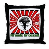 Robot King Atomic Broccoli Throw Pillow