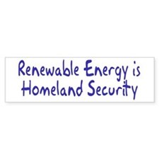 renewable energy... Bumper Bumper Sticker