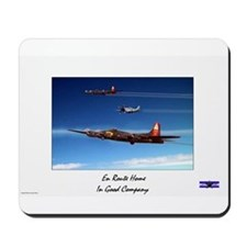 Plane Crazy Artwork B17 En Route Home  Mousepad