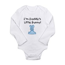 Daddy's Little Bunny (blue) Long Sleeve Infant Bod