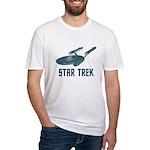 Retro Enterprise Fitted T-Shirt