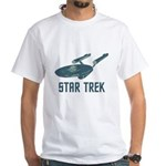 Retro Enterprise White T-Shirt