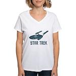 Retro Enterprise Women's V-Neck T-Shirt