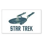 Retro Enterprise Sticker (Rectangle 50 pk)
