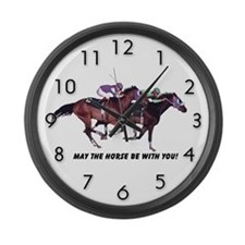 May The Horse Be With You Large Wall Clock