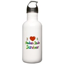 newborn stroke survivor Water Bottle
