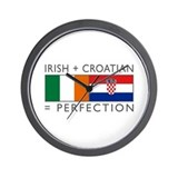 Irish Croatian flags Wall Clock