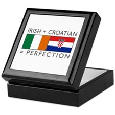 Irish Croatian flags Keepsake Box