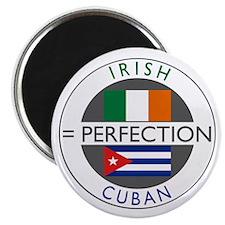 Irish Cuban heritage flags Magnet