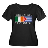 Irish Cuban heritage flags Women's Plus Size Scoop