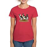 Emery Penciled Runner Ducklin Women's Dark T-Shirt