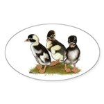 Emery Penciled Runner Ducklin Sticker (Oval 10 pk)