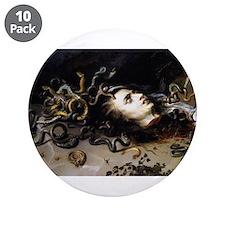 "Head of Medusa 3.5"" Button (10 pack)"