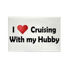 Cruising with my Hubby Rectangle Magnet