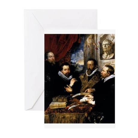 The Four Philosophers Greeting Cards (Pk of 10)