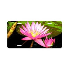 Water Lily Fresco Aluminum License Plate
